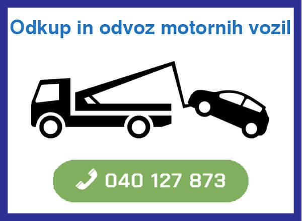 Odkup in odvoz motornih vozil - 040 127 873 - kontakt