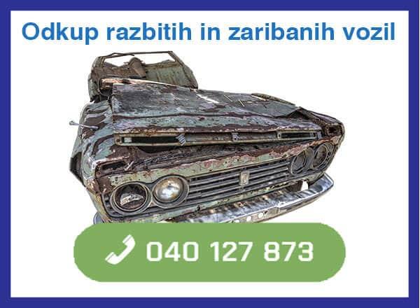 Odkup razbitih in zaribanih vozill - 040 127 873 - kontakt