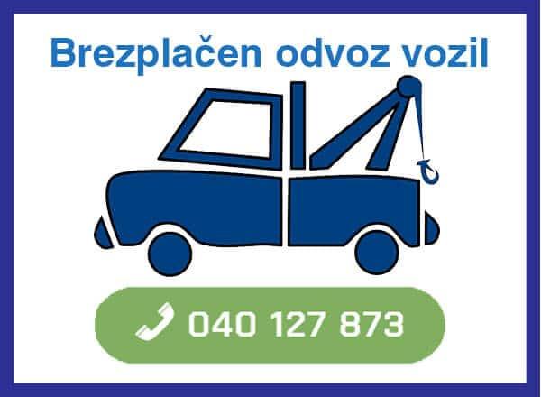 brezplacen odvoz vozil - 040 127 873 kontakt
