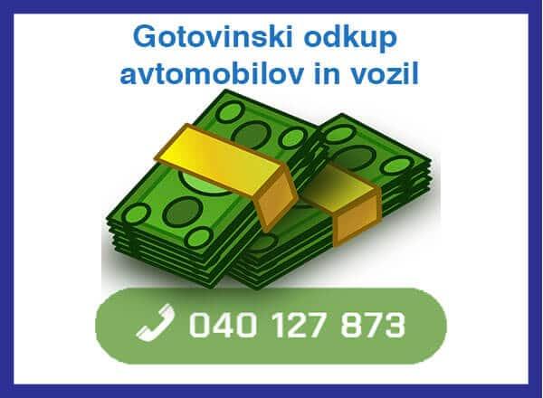 gotovinski odkup avtomobilov in vozil - 040 127 873 - kontakt