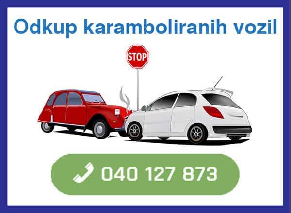 odkup karamboliranih vozil -040 127 873 kontakt