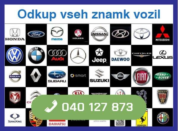 odkup vseh znamk vozil -040 127 873 kontakt